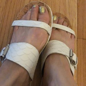 Coach Sandals in white leather